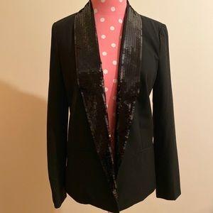 Michael Kors Elegant Sequined Black Blazar Lined